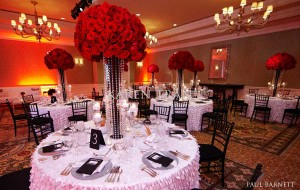 Red-black-white-wedding